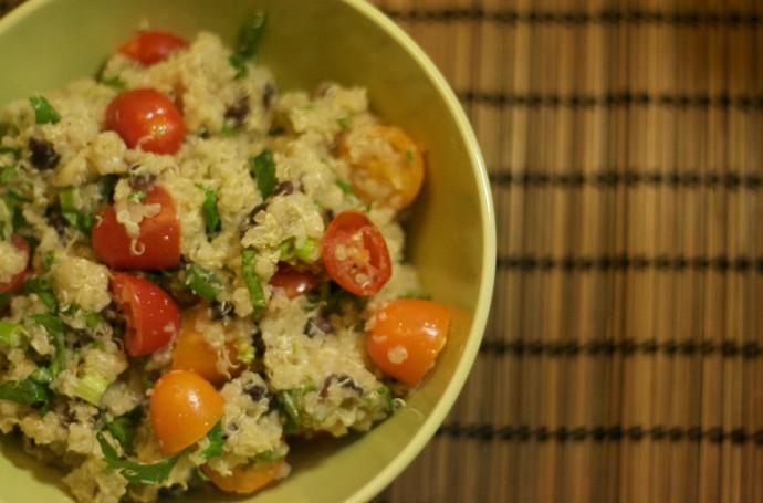 Quinoa Salad Cilantro, Tomato, Cucumber