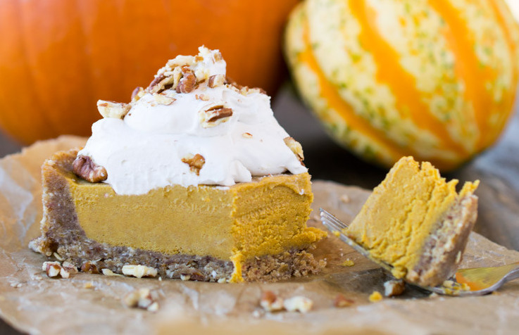 Pumpkin Pie No Bake with Banana | rawrevive.com
