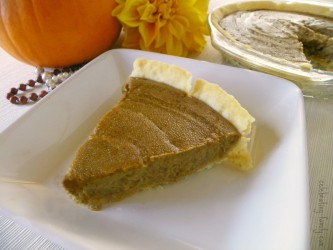 Pumpkin PIe with Tofu & Pureed Pumpkin | aroundmyfamilytable.com
