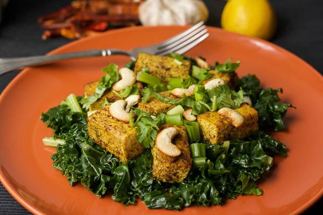 Spicy Stir-Fried Tofu with Kale – HappyGut