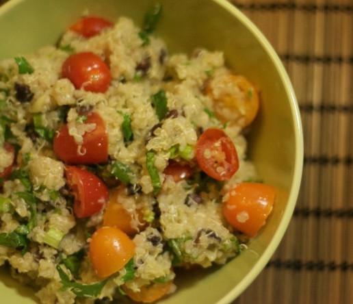 Quinoa Salad Cilantro, Tomato, Cucumber | HappyGut.ca